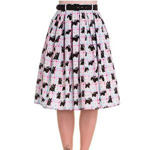 Hell Bunny Scottie Dog Rockabilly Skirt